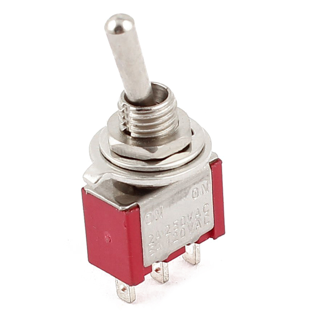 New AC 250V/2A 120V/5A ON/ON 2 Position SPDT Mini Micro Toggle Switch Red