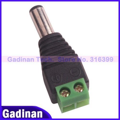Free Shipping to RU,50pcs/lot CCTV Camera 2.1mm Male DC Connector DC Jack Plug for CCTV Camera system