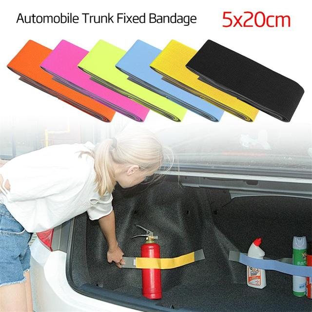 1Pc 20*5cm Car Trunk Fixed Belt Storage Bag Organizer Stickers Elastic Strap Tape for BMW Audi Auto Car Styling Accessories