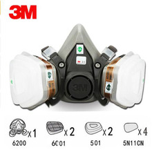 9 in 1 Suit Half Face Gas Mask Respirator Painting Spraying Dust Mask For 3 M 6200 N95 PM2.5 gas Mask
