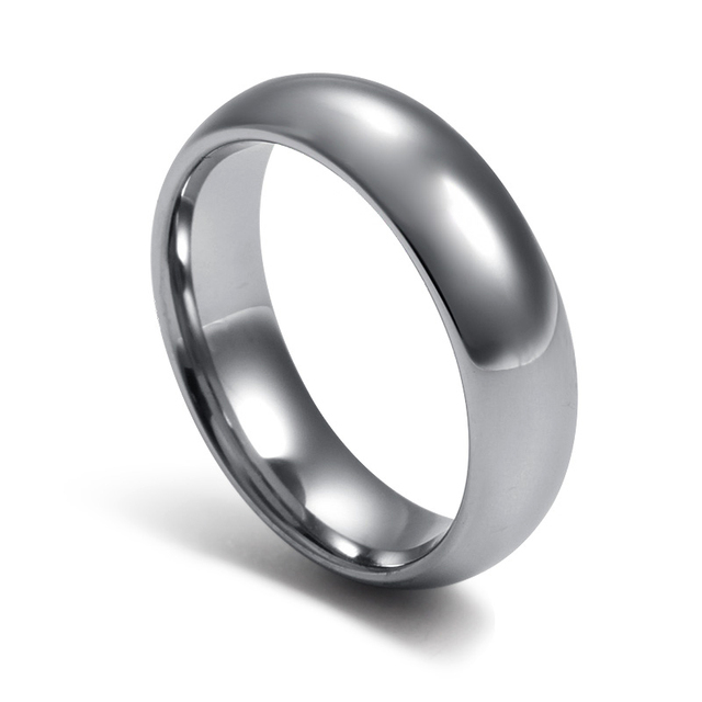 High Polished Couple's Silver Plain Simple Anniversary Rings in Tungsten Carbide Free Custom Engraving