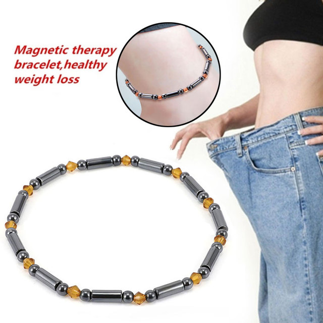 Black Slimming Foot Chain Magnetic Foot Chain Effective Jewellery Weight Loss Chain Fashion Men Relieve Stress