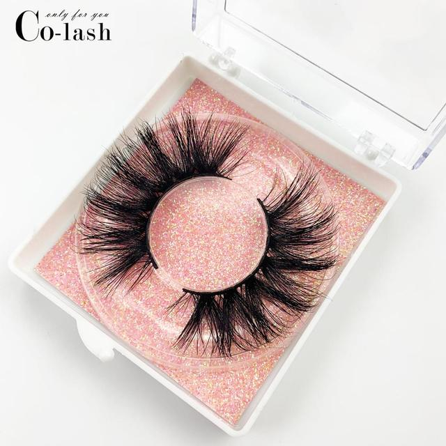 Colash Custom box Mink Eyelashes Thick Natural Long False Eyelashes High Volume Mink Lashes Soft Dramatic Eye lashes New Makeup