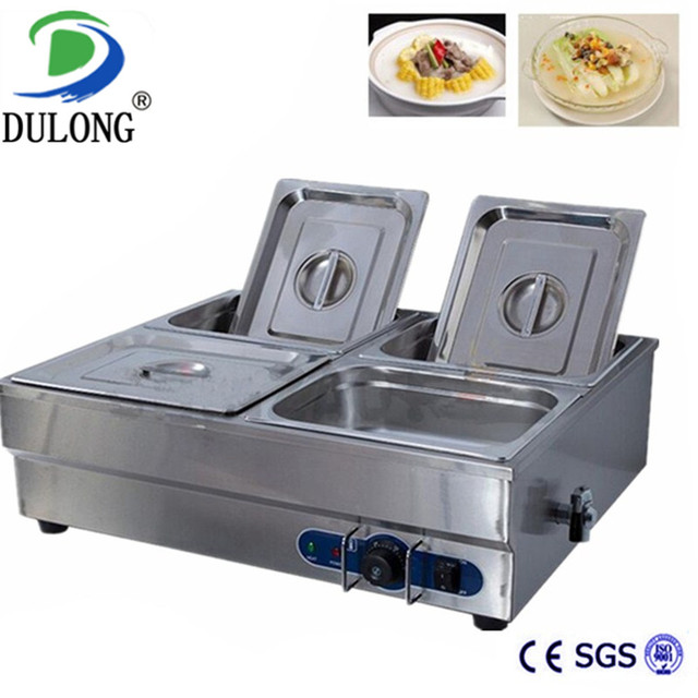 4 Pan Good Commercial Food Warmer Kitchen Equipment Machine Electric Bain Marie For Restaurant Electric Food Warmer Container