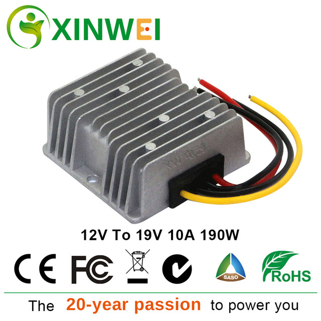 XINWEI 12V To 19V 10A 190W Step Up Boost Module Converter Waterproof DC Converter  For Automotive Motor Audio And More