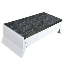 Newly Stone Grain Dining Table Cloth Home Tablecloth Waterproof PVC Tea Table Cover Eco-friendly Table Cloth Hotel Supplies