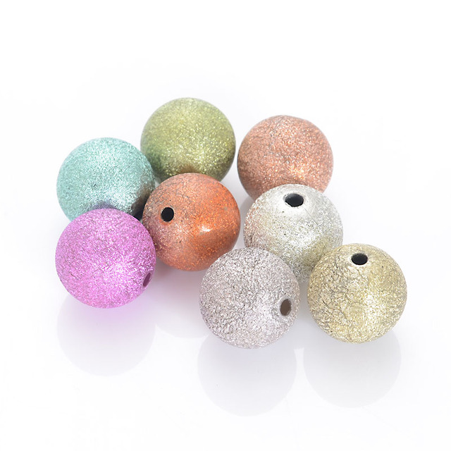 High Quality 16mm Shimmering Round Spacer Beads Random Mixed Color Wrinkle Beads For Jewelry Making Supplies,wrinkle round shape