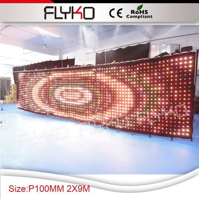 Free shipping P10 2X9m Video effect decoration led video screen