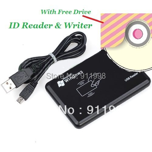 5pccs Brand New USB 125khz RFID Reader / Writer ID card Copier Duplicate Copy & 10pcs Free Rewritable Tag Ship With Track Number
