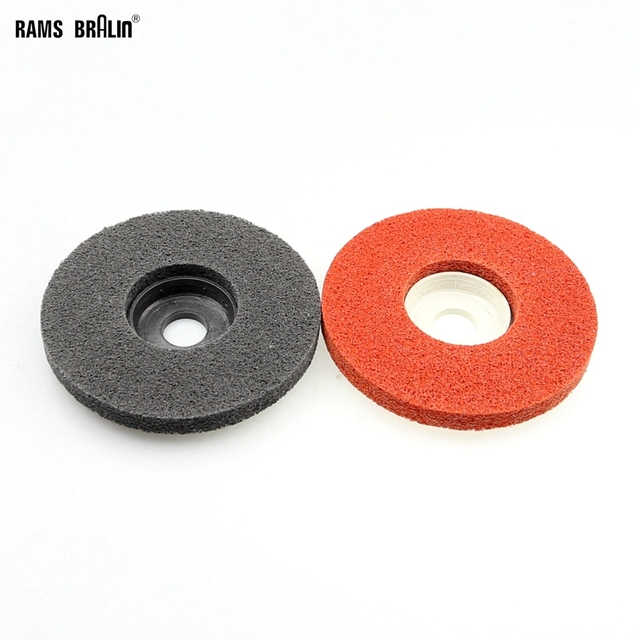 1 piece 100*12*16mm Nylon Grinding Disc 7P 180# Non-woven Unitized Polishing Wheel for Soft Metal Stainless Steel