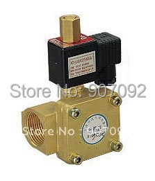 Diaphragm Solenoid Valve G1'' 0955505 2/2 Way Brass Body Valve 16Bar Normally Open Oil Valve DC24V