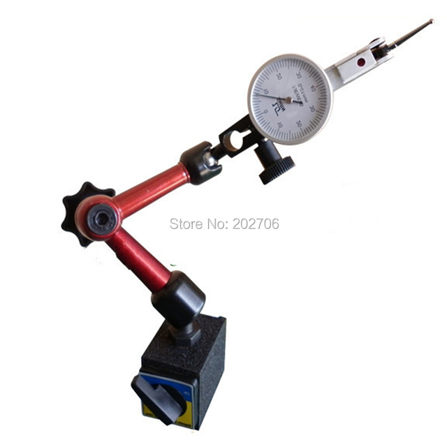 7 JEWELS  DIAL TEST INDICATOR 0.8 *0.01mm  + Universal MAGNETIC BASE with Super Magnetic Force