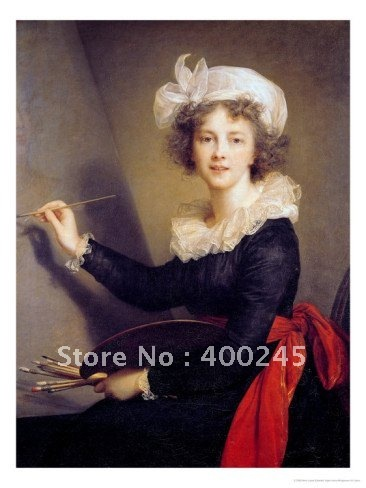 art oil painting Self Portrait By Elisabeth Louise Vigee LeBrun Painting Reproduction High quality handmade