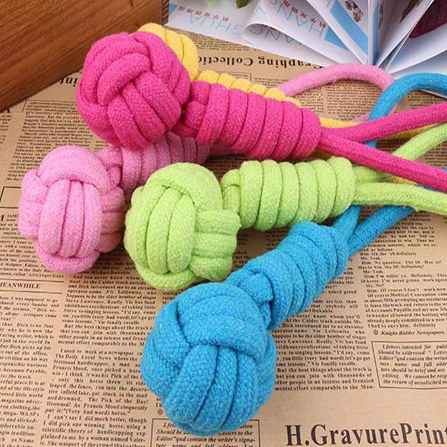 2pcs Dog Training Toys For Puppy Dogs Toys Rope Pet Chew Rope Toys Training Play Toy Handmade Cotton Ropes Pet Supplies Mascotas