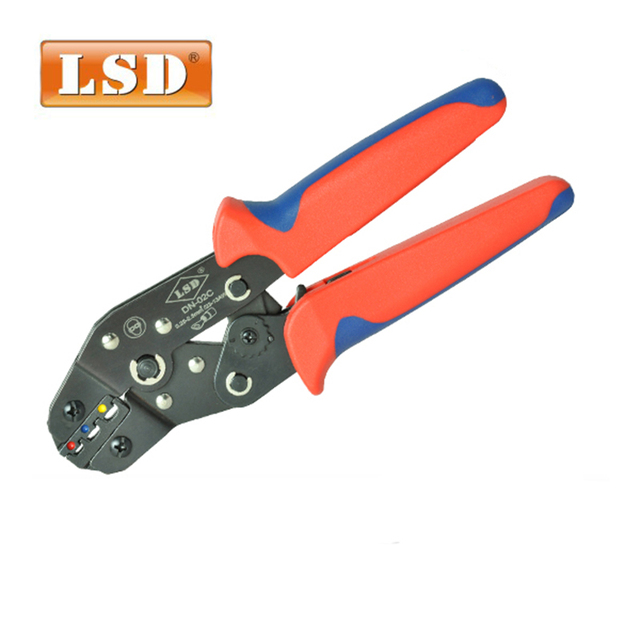 DN-02C  Mini european style crimping pliers for crimp 0.25-2.5mm2 surge connectors hand press plier