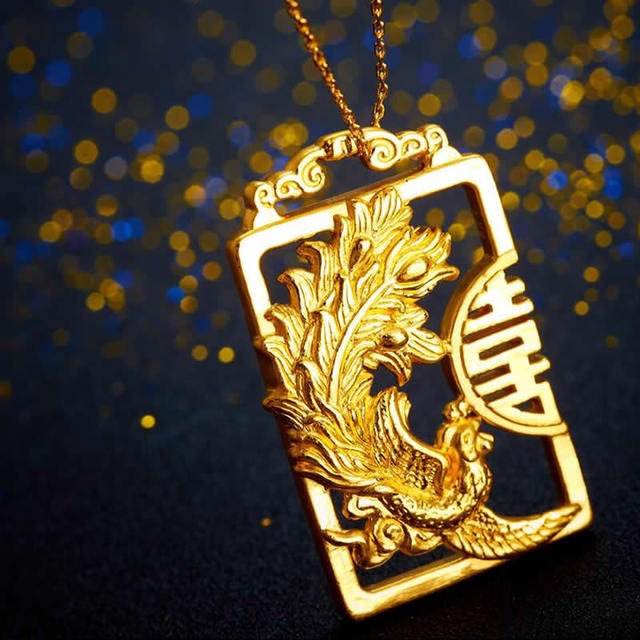 Pure 999 24k Yellow Gold Pendant 3D Amazing Carved Lucky Phoenix Pendant 6.44g