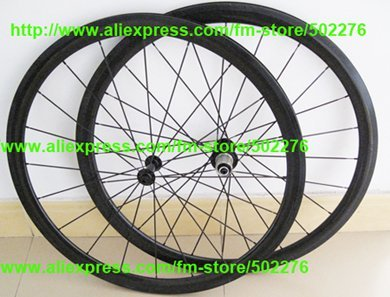 RIM 50mm Tubular Wheel set  - 3K Full Carbon Road Bike Bicycle 700C wheel set Rims ( holes 20,24 ) + Spoke + hub + brake pad