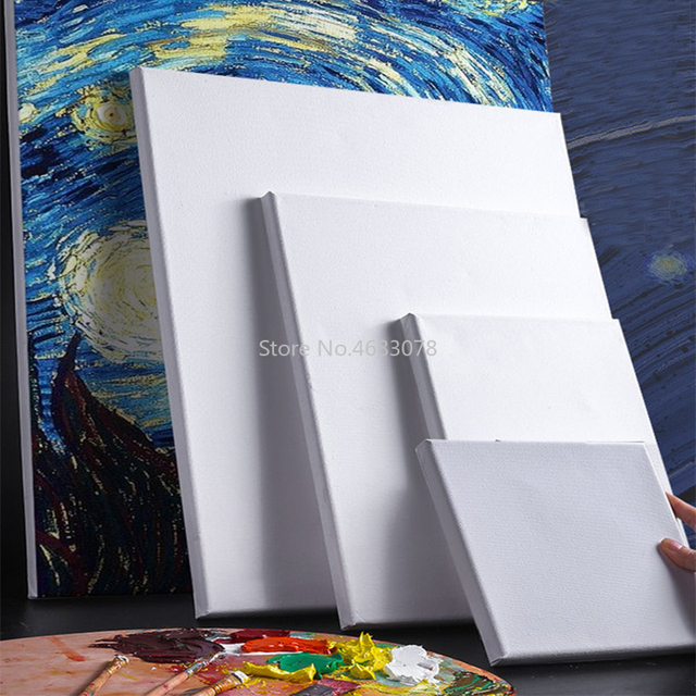 10PCS Oil Painting Drawing Frame Art Cotton White Stretched Canvas Frame