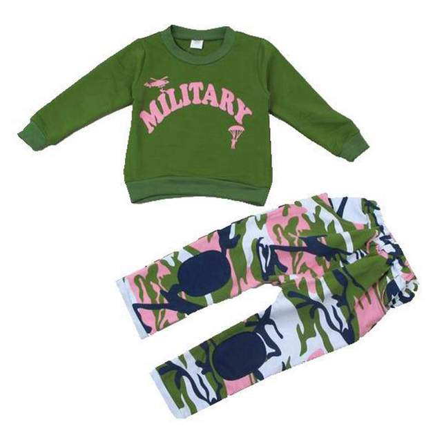 Cool Military Camouflage Kids Clothes Boys Sets Pullover Jacket + Pants Baby Boy Suit Children Clothing Conjunto Inverno Menino