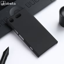 AKABEILA Oil PC Case For Sony Xperia XZ1 Compact Case Hard Plastic Matte Black Cases Coque For Sony XZ1 Compact Cover G8441