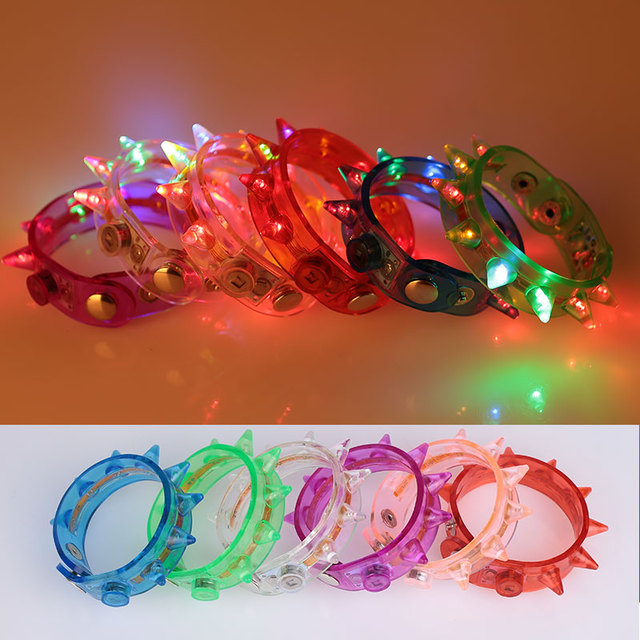 Toys Glowing Plastic Beautiful Glowing Bracelet  Luminous toys LED Multicolor Flash Bracelet Kids toys light lichtstaven