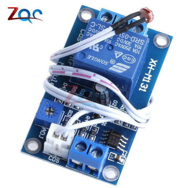 XH-M131 DC 5V / 12V Light Control Switch Photoresistor Relay Module Detection Sensor 10A brightness Automatic Control Module
