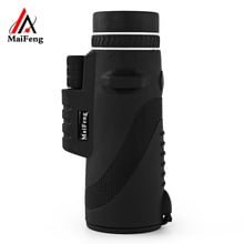 MaiFeng 40 x 60 Portable Night-vision Monocular Telescope Professional Hunting high-resolution Telescope with Holder Handheld