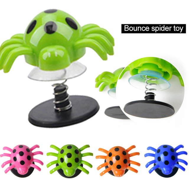 Jumping Spider Spring Toy Bounce Spider Insects 2Pcs Color Random Anti Stress Party Toys Favor Colorful Party Props