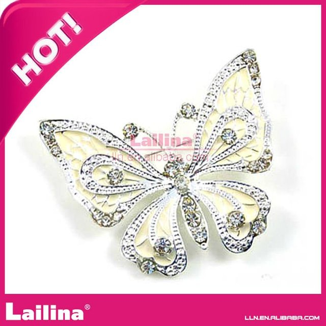 unique rhinestone butterfly brooch