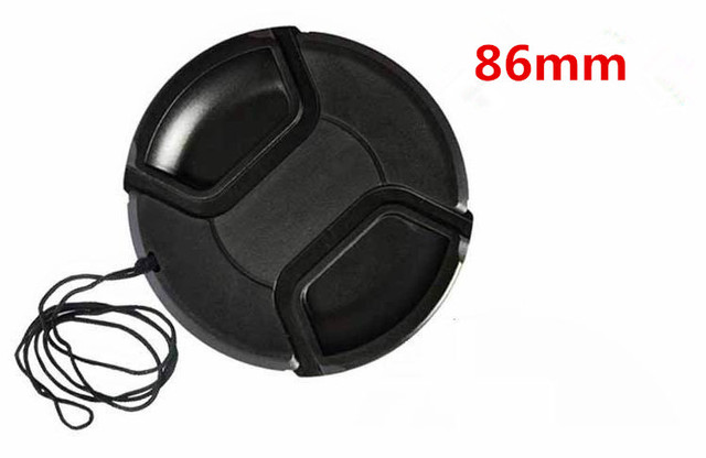 86mm center pinch Snap-on cap cover for camera 86 mm Lens