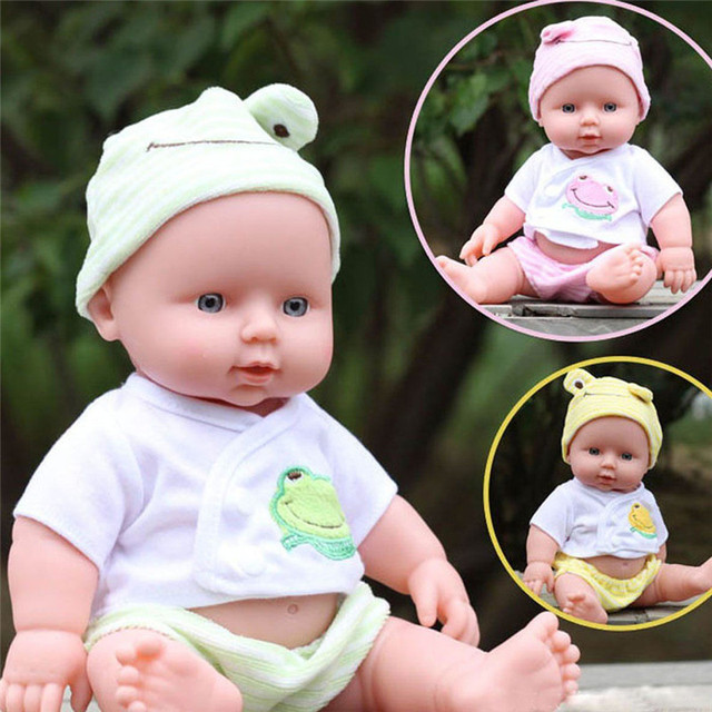 30cm Reborn Baby Doll Soft Vinyl Silicone Lifelike Newborn Baby Doll for Girls Birthday Gift Simulation Baby Sleeping Calm Doll
