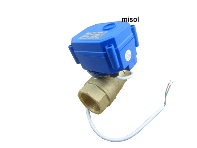 misol Motorized ball valve DN15, 2 way, electrical valve