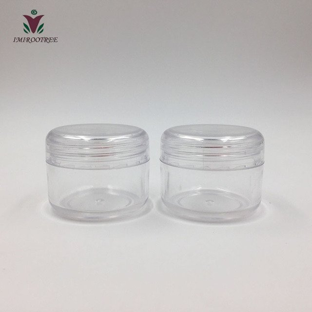 Promotion 50pcs 30g PS Empty Transparent Cream Jars, 30ml Clear Plastic Box, Empty Cosmetic Containers