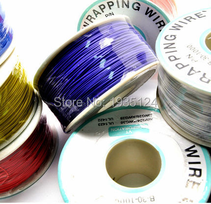 High quality electrical Wire Wrapping Wire Wrap 10 Colors Single strand copper AWG30 Cable OK Wire PCB Wire