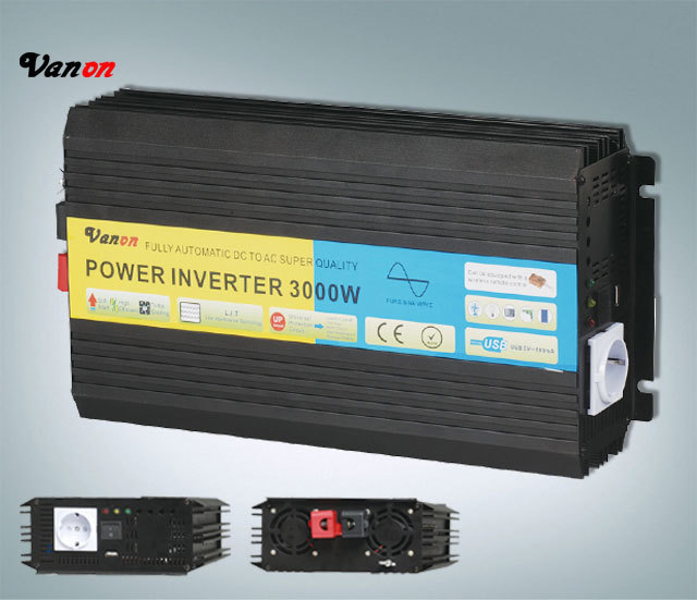 3000W 24V to 230V Pure Sine Wave Power Inverter (not modified sine wave) Input and output voltage selectable Free shipping