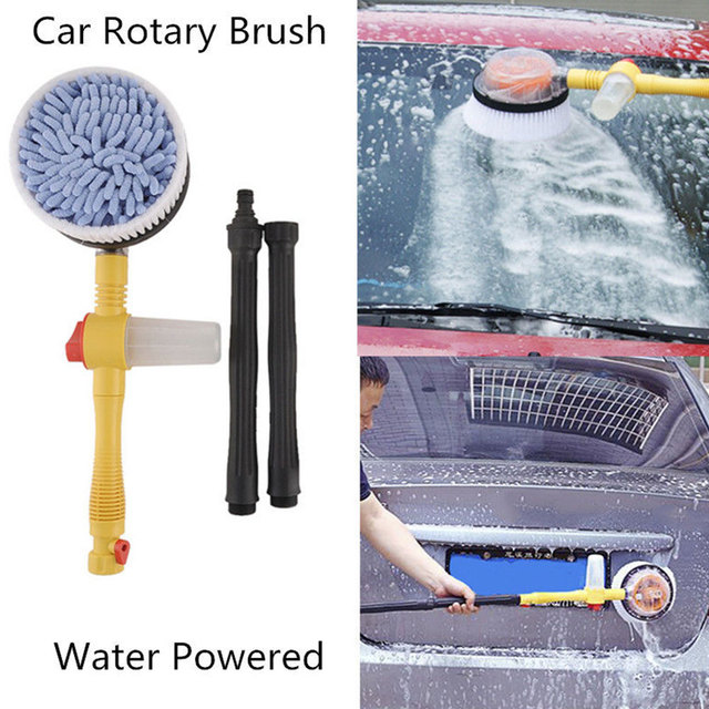 Automatic Washing Brush Flow Car-Cleaning Clean Portable Brusher Water Nozzles Spray Retractable Switch Tool Foam