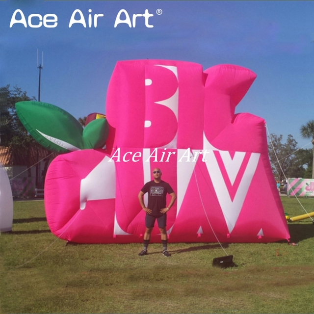 Attractive giant outdoor logo replica customized model inflatable logo WALL replica for event decoration offered by Ace Air Art