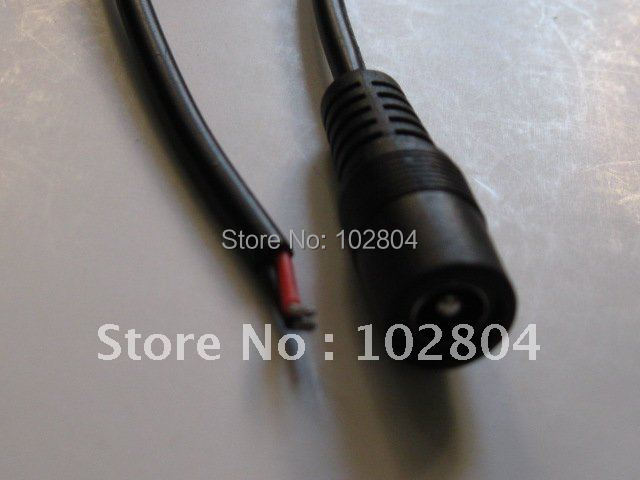 25 Pcs Per Lot DC Power Jack Female Connector 5.5x2.1mm With Cord Cable 40cm 0.4m Hot Sale High Quality