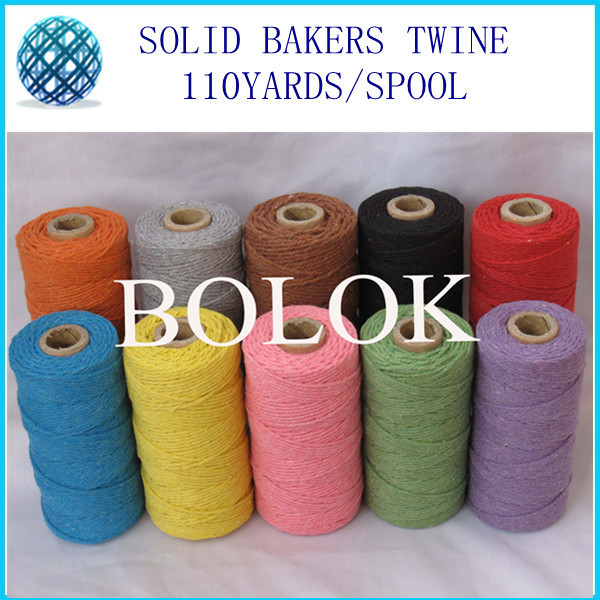 Solid cotton Baker twine (110Yards/spool) divine twine 10 kinds color by EMS