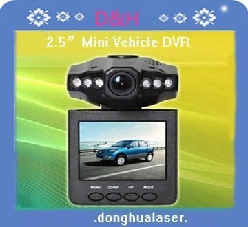 """2.5"""" Car DVR  with Lens 120 degree  night vision Vehicle DVR Free SHIPPING"""