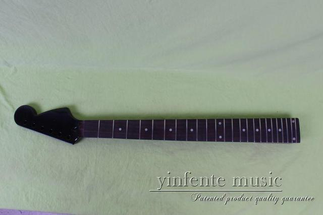 new BLACK    Unfinished electric guitar neck mahogany   & rose wood  FINGERBOARD 18# dot inlay