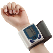 Free shipping new automatic digital wrist watch blood pressure monitor heart beat meter LCD