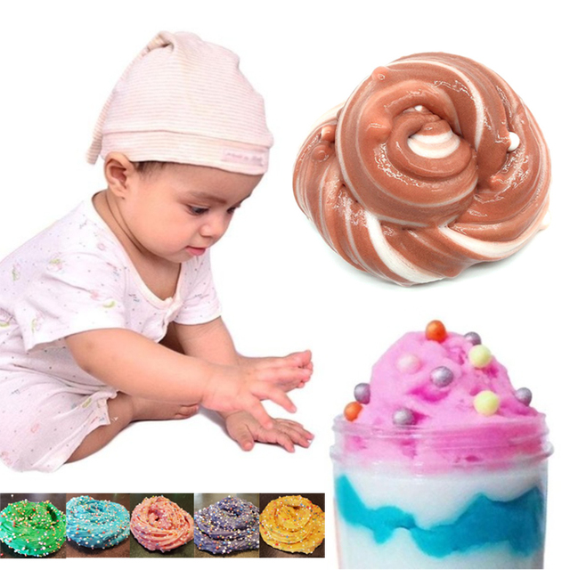 Cheapest slimes slime trasparente Fluffy foam slime suplies Funny Slime toys Hands-On Mini Grain Plasticine Vent Toys Mud Relax