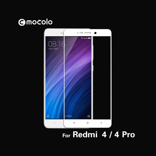Mocolo 2.5D 0.33mm Full Screen Cover 9H Hard Screen Protector Tempered Glass For Redmi 4 Protective Glass Film For Redmi 4/4pro