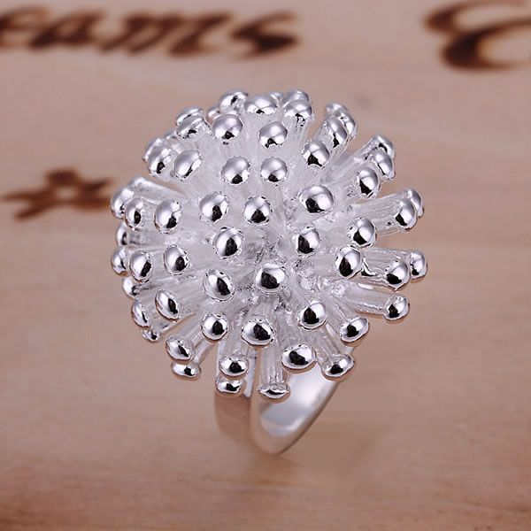 R001 Hot sale fine silver plated jewelry,Wholesale Factory price charms free shipping fashion Fireworks Ring /aakairra aaoairva