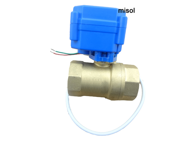 "Free shipping!!! motorized ball valve 2 way, 24VDC, DN25, G1"" (reduce port) , electrical valve, ball valve"