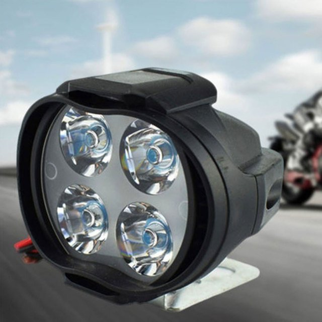 Universal Front Light Headlights Spotlight Motorcycles Bicycles Super Bright Scooters Fog Light
