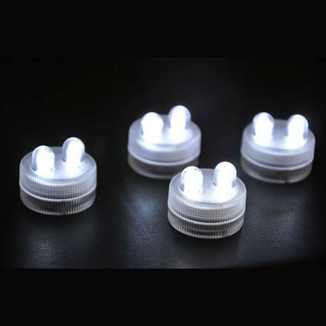 10 pcs/lot LED Submersible light Battery Operated Candles Lights for Wedding Holiday party Decoration
