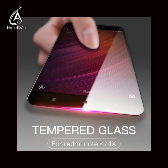 Amzboon 2.5D 0.33mm Full Screen Cover 9H Hard Screen Protector Tempered Glass For Redmi Note 4x pro Glass Film For Redmi Note 4
