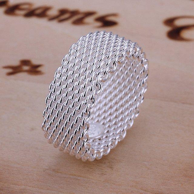 Free Shipping Wholesale silver plated Ring,Fashion Jewelry,Mesh web net finger  Ring SMTR040